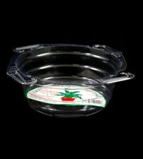 """Hanging Basket Drip Pan 10"""" - Clear Vinyl Plant Saucer - Curtis Wagner  10 Count"""