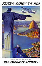 PAN AM RIO BRAZIL VINTAGE  A1 SIZE PRINT poster  painting FOR YOUR FRAME