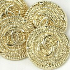 New listing Chanel Buttons 4pc Cc Gold 💛 20mm Vintage Style Unstamped 4 Buttons Auth!