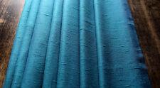 2 Vorhänge Vintage 60er 70er L 135 x Br 115 blau Gardine Vorhang 60´s 70´s