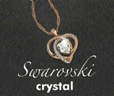 Crystal Rose Gold Plated Chain Costume Necklaces & Pendants