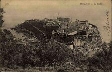 Monaco alte AK Carte Postale 1906 La Rocher Festung Palast Postkarte frankiert