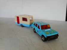 1/36 MAJORETTE DIECAST TOY RANGE ROVER  BLUE  WITH CARAVAN N MINT RARE SET