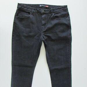 Kenji Jeans Mens Size W34 L32 Black Slim Fit Denim