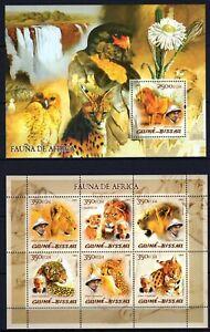 GUINE-BISSAU 2005 FAUNA DE AFRICA ALBERT SCHWEIZER LEO WILD ANIMALS STAMPS MNH