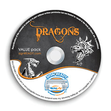 DRAGONS CLIPART-VECTOR CLIP ART-VINYL CUTTER PLOTTER IMAGES &T-SHIRT GRAPHICS CD