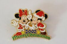 Disney Store Japan Pin Merry Christmas 2002 Mickey & Minnie Jds