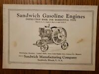 Sandwich Gasoline Engine Illinois Instruction Book Original
