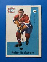 Ralph Backstrom 1959-60 Parkhurst Hockey Card #29 Montreal Canadiens