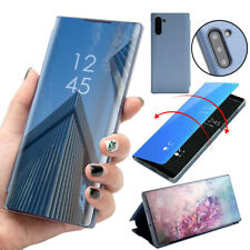 For Samsung Galaxy Note 10/ 10 Plus Mirror Leather Stand Case Clear View Cover
