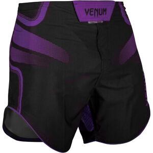 Venum Tempest 2.0 Lightweight Mid-Thigh MMA Fight Shorts - Black/Purple