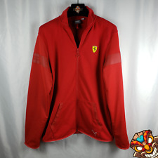Scuderia Ferrari Puma Red Mens Full Zip Sweat Jacket Size Large