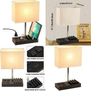 Dreamholder Desk Lamp with 3 USB Charging Ports, 2 AC Outlets and 3 Phone Stands