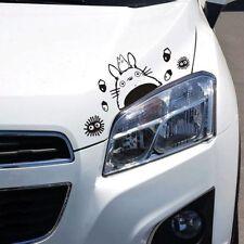 Totoro Car Decal Studio Ghibli Cute Sticker Waterproof Window Glass (Black)
