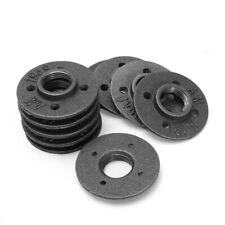 10pcs 1 Inch DIY Malleable Threaded Floor Flange Iron Pipe Fittings Wall Mounted