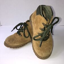 UGG Chestnut Suede Lace-Up Booties High Top Kids Unisex Size 9 Boots