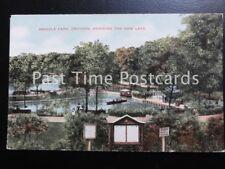 Surrey CROYDON Wandle Park - The New Lake & Boating Station - Old Postcard