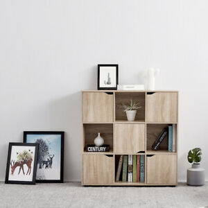 9 Cube Wooden Bookcase Shelving Unit Display Storage Shelf Home Office Furniture