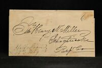 New York: Half Moon 1841 Stampless Cover, Ms & 6c Rate, Saratoga Co