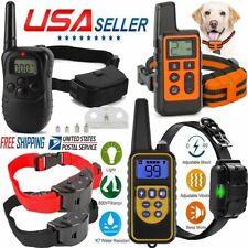 Dog Pet Electric Shock Training Collar Waterproof Rechargeable Remote 300/800m