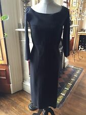 $695 LA PETITE ROBE di CHIARA BONI DOROTHEA DRESS IN BLACK SZ 10/46 NWT RNS SMAL