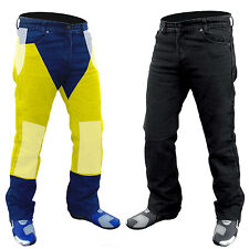 "MENS KEVLAR® BLACK JEANS MOTORCYCLE REINFORCED WITH DuPont™ 34"" WAIST"