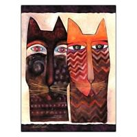 "Laurel Burch Friendship Card ""Spend Nine Lives With You"" Cats"
