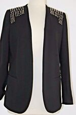 GORGEOUS H&M BLAZER IN BLACK COLOR WITH STUDS DETAIL CLASSIC STYLE & FIT SIZE 10
