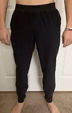 "Lululemon Mens Size L In Mind Pant 30"" Black BLK Mesh Run Seawall Yoga"