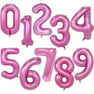 40 Inch Big Foil Birthday Balloons Helium Number 0-9 Wedding Party Decorations
