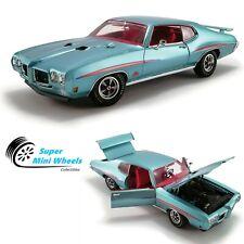 ACME 1:18 1970 Pontiac GTO The Judge (Light Blue Metallic) Diecast Model