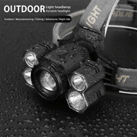 Super Bright Waterproof Head Torch Headlight 5 and 7 LED Rechargeable Headlamp Y