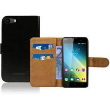Fundas y carcasas color principal negro de piel sintética para teléfonos móviles y PDAs Wiko