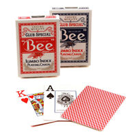 Bee JUMBO index playing cards No. 77 Casino quality Poker Red or Blue 1 Deck USA