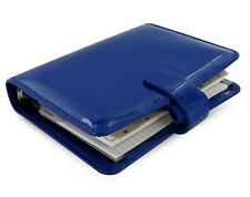 Filofax Patent organiser diary compact pocket Any Year Week View notebook - Blue