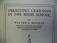 Directing Learning in the High School (Walter S. Monroe, 1928 HC)
