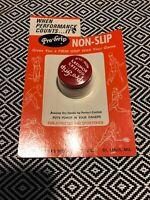 VNTG 1970 PRO-GRIP Non-Slip Golfer Bowler's Red White Milk Glass Jar Metal Lid