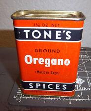 Vintage Tones OREGANO 1 1/8 oz. spice tin, great graphics & colors, Mexican sage