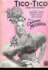"CARMEN MIRANDA Sheet Music ""Tico-Tico"" 1943"