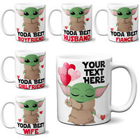 Baby Yoda Mug Funny Valentines Day Cup Gift Personalised Boyfriend Girlfriend