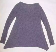 LULULEMON TEA LOUNGE PULLOVER HEATHERED DEEP INDIGO YOGA PILATES RUNNING EUC 4