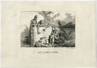 Antique Master Print-GENRE-SLEEP-SUPPER-Vernet-ca. 1825