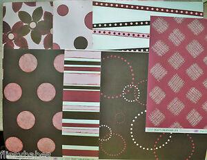 "12""x12"" Backing Paper 200gsm Asst Patt in Pinks/Browns(7) & Birthday(5) NEW"