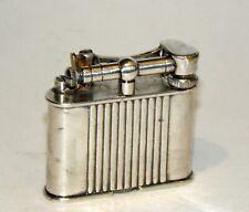 rare model 1930's art deco french dunhill double wheel liftarm petrol lighter