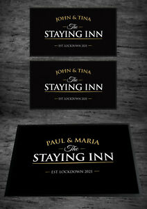 Personalised The Staying Inn Home Bar Set with indoor mat & 2 x Bar runners set