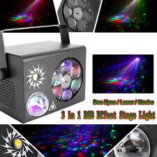 Laser DMX Bühnenlicht RGB Discokugel Gobo Party LED Stroboskop Licht Show Strobe
