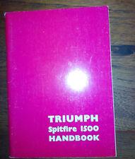Triumph Spitfire 1500 1975 USA Handbook Manual de usuario
