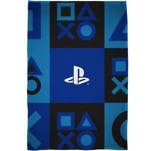 Playstation Fleece Blanket Bed Throw PS5 Check Icons Design Matches Bedding