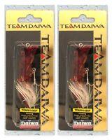 (2) Rare Team Daiwa 15/32 Oz TD Mouth Washer Topwater Morning Dawn TDMW1080F32