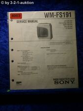 Sony Service Manual WM FS191 Cassette Player (#4003)